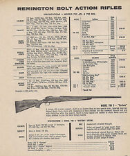 1975 REMINGTON Model 700 C Custom Special Bolt Action RIFLE AD w/specs