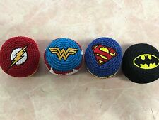 Four differant DC Comics Super Hero Footbags