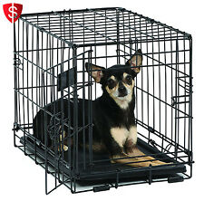 Small Dog Cage Travel Crate Portable Little Home Metal Foldable Pet X