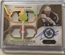 2015-16 The Cup Andrew Ladd Auto Patch 2/5 Foundations Upper Deck 15/16 SP