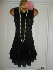 New Look 1920s Style Gatsby Flapper Charleston Lace Beaded Dress Size 12