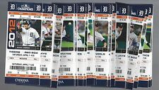 2012 MLB DETROIT TIGERS BASEBALL SEASON FULL TICKETS MIGUEL CABRERA TRIPLE CROWN