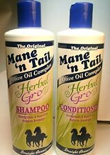 Mane 'n Tail Herbal Gro Shampoo & Conditioner Olive Oil Complex 12 oz, New