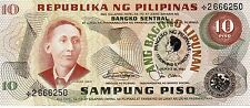 PHILIPPINES 10 Pesos June 30 1981 P167a *Star Replacement* UNC Banknote