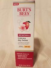 Burt's Bees Renewal Firming Day Lotion SPF 30 Hibiscus & Apple Complex 2 oz