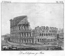 Rom, das Kolosseum, Original-Lithographie von 1832