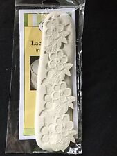 "Cake Decorating NEW CK Silicone Mold ""Flowers Leaves Lace Border"""