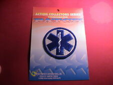 EMT EMERGENCY MEDICAL TECHNICIAN BLUE STAFF OF LIFE RESCUE PATCH MINT ON CARD