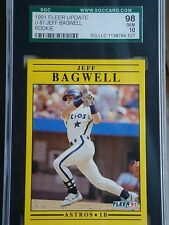 1991 FLEER UPDATE U-87 JEFF BAGWELL ROOKIE HOUSTON ASTROS SGC 98 GEM 10 HOF
