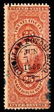 R50c  USED .25c  WAREHOUSE RECEIPT REVENUE OF 1866 - FINE - CV$45.00 (ESP#9474)