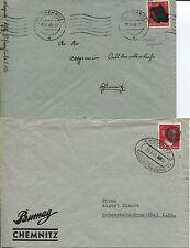Local/sächs. Noir. AP 827 i jamais sur 2 lettres de Chemnitz (b05263)