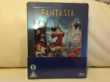 Disney Fantasia Steelbook Blu Ray zavvi Exclusivo ** Nuevo Y Sellado **