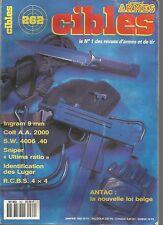 """CIBLES N°262 INGRAM 9MM / COLT A.A 2000 / S.W 4006.40 / SNIPER """"ULTIMA RATIO"""""""