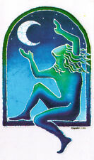 Woman Embracing The Moon - Window Art Sticker / Decal