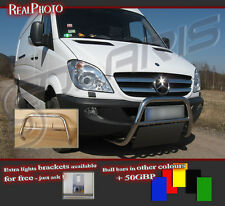 MERCEDES SPRINTER 2006+ LOW BULL BAR WITHOUT AXLE BARS +GRATIS! STAINLESS STEEL!