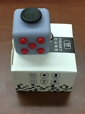 Fidget Cube Black Gray Red 6 Side Stress Anxiety Relief Toy Gift USA Seller 2017