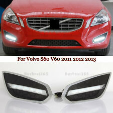 White LED Daytime Running Light Fog Lamp DRL For Volvo S60 V60 2010-2013 OORL E4