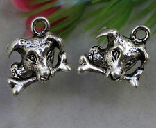 Free shipping 30pcs Retro Style lovely dog alloy Charms Pendants 15x15mm