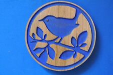 Bird Magnet Cherry wood Refrigerator Magnet American Made/ Homemade