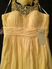 Yellow sweetheart prom dress