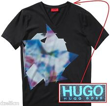 NWT HUGO (Red Label) By Hugo Boss LOGO Graphic T-shirt Tee in Black Size XXL