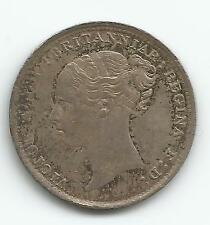 1886 Great Britain 3 Pence Xf Km. 730 , Silver Coin