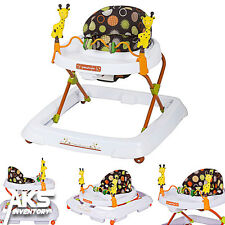 Baby Walker Toy Play Infant Toddler Kids Height Adjustable Safari Kingdom New