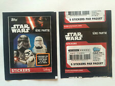 STICKERS TOPPS 1 POCHETTE STAR WARS 1 ERE PARTIE 2016 REVEIL FORCE FRENCH PACKET