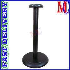 Wood Helmet Stand For Medieval Armour Helmets Wooden Display Post Black Finish R