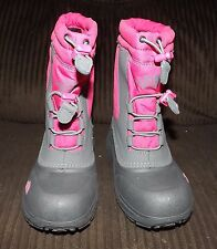 Girls North Face Alpenglow II Winter Boots - New - Pink and Gray - Size 13