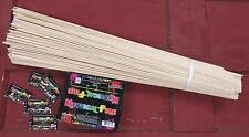 25 Wooden Marshmallow Sticks with MYSTICAL FIRE - $4 shipping