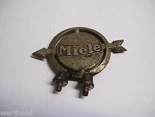 Oldtimer Fahrrad Emblem Steuerkopfschild original MIELE Schutzblech-schild rot
