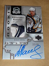 06-07 THE CUP Alexander Radulov AUTO 4CLR PATCH 22/99 (Small crease from patch)