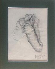 Jean HERVEY.Projet de coiffe.26X35.Mine de plomb.Signé en bas à droite.