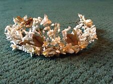 ANTIQUE WEDDING VEIL HEADPIECE VICTORIAN WAXED BRIDAL VINTAGE BEAUTIFUL UNUSUAL