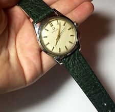 Vintage Automatic Omega Seamaster St Steel Mans Watch Runs New Leather Band