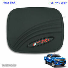 TRD Black Fuel Gas Tank Cap Door Cover For Toyota Hilux Revo M70 Sr5 4x4 4WD