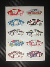10 Vans Of The Wall Skateboard  Vintage Vinyl Sticker Laptop Luggage Car Decals
