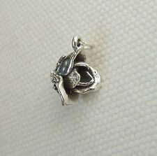 ROSE ROSEBUD FLOWER 3D CHARMS CHARM 925 STERLING SILVER
