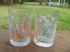 2 Walt Disney Magic Kingdom 25th Anniversary  Remember The Magic Glass Tumber