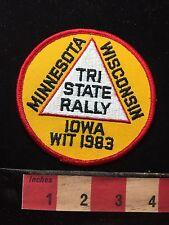 Vtg 1983 WIT Tri State Rally Iowa Minnesota Wisconsin Patch 71B7