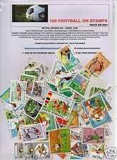 FOOTBALL 100  DIFFERENT THEMATIC STAMPS SPORTS GAMES OLYMPICS ALL LARGE STAMPS