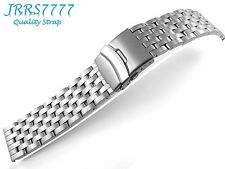 22mm Stainless Steel wristband watch bracelet Brushed Satin Titanium New band