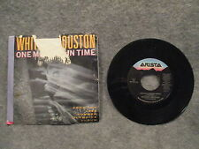 "45 RPM 7"" Record Whitney Houston One Moment In Time Arista Records AS1-9743 VG+"