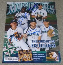 SEATTLE MARINERS SIGNED MAGAZINE KYLE SEAGER ACKLEY CARP BEAVAN ROBINSON 2011