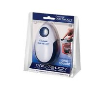 Culinare White One Touch Mini Can Opener Automatic Tin Cutter Plastic