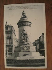 CPA N&B Reims Esplanade Cérès Monument édifié à la Mémoire des Infirmières