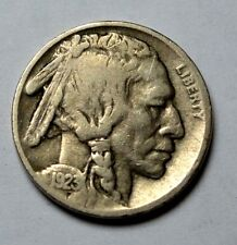 KEY DATE, RARE 1923-S EF/XF Indian Head Buffalo Nickel Old,US Five Cent Coin,5c