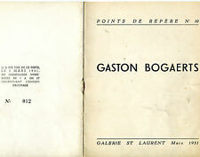 GASTON BOGAERTS  CATALOGUE  GAL ST LAURENT PREF  C H DEWISME (HENRI VERNES