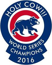 Chicago Cubs World Series 2016 Champions Holy Cow MLB Decal/Sticker bl
